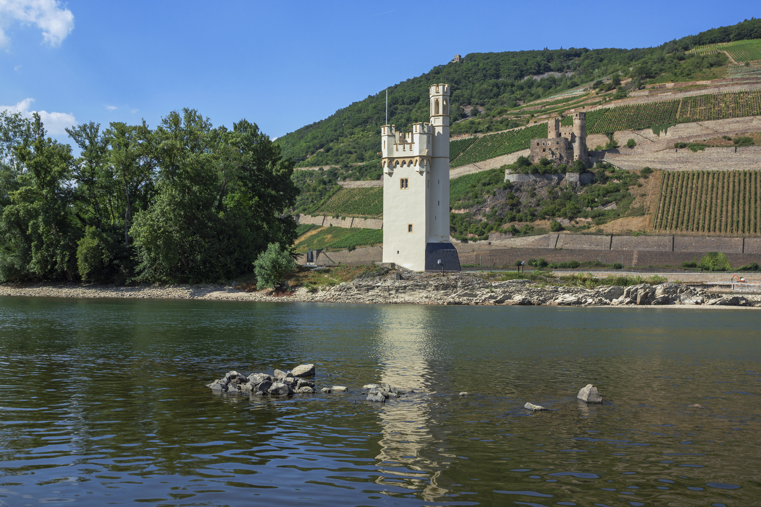 Red Romantic Rhine - Mouse Tower