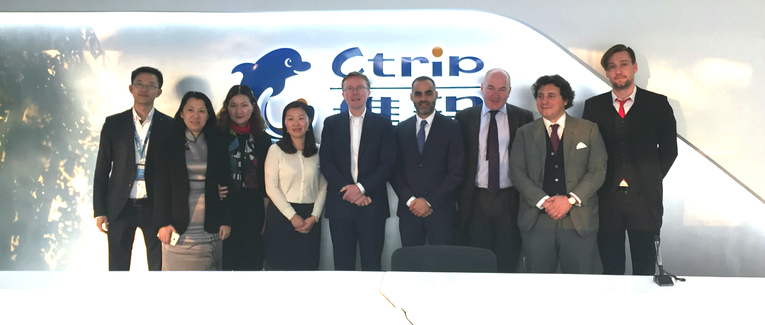 Ctrip Team: Europe and Middle East area GM: Roger Qiu, BD&Marketing CEO Chenjiang, Group S&M CFO Yangxiaoli